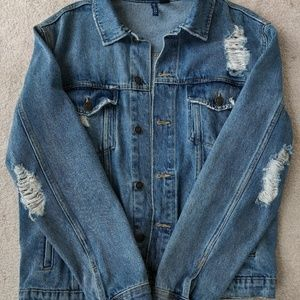 H&M Jean distressed jacket